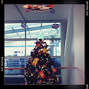 Christmas tree & plane, Jacksonville airport