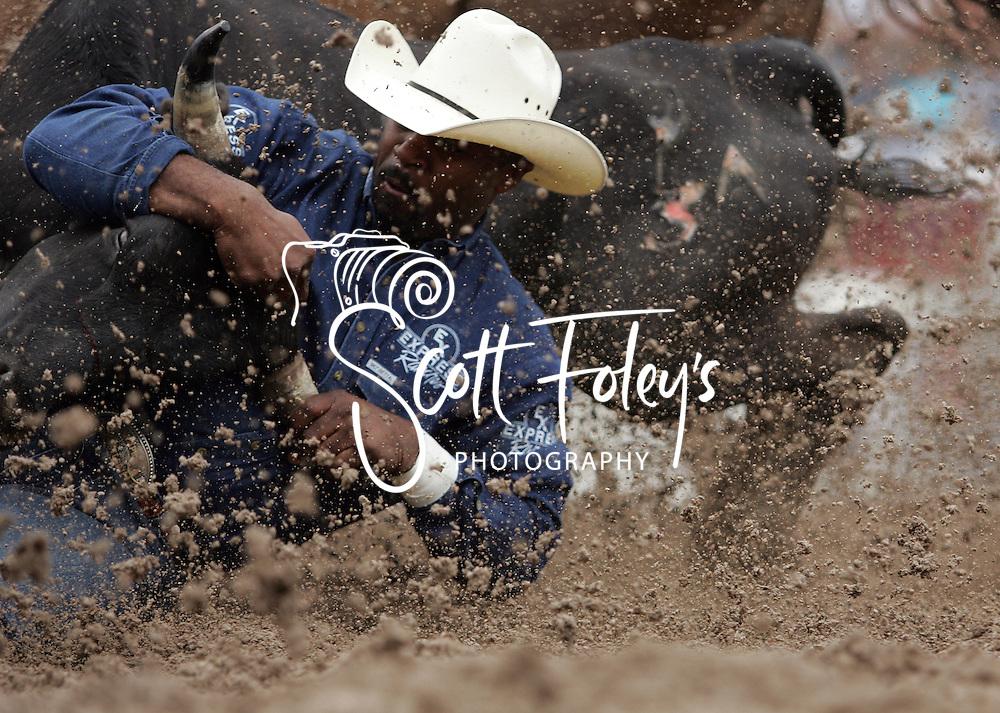 Steer Wrestler Ronnie Lee Fields, 27 July 2007, Cheyenne Frontier Days