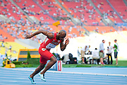 LaShawn Merritt from USA competes in men's 400 meters qualification during the 14th IAAF World Athletics Championships at the Luzhniki stadium in Moscow on August 11, 2013.<br /> <br /> Russian Federation, Moscow, August 11, 2013<br /> <br /> Picture also available in RAW (NEF) or TIFF format on special request.<br /> <br /> For editorial use only. Any commercial or promotional use requires permission.<br /> <br /> Mandatory credit:<br /> Photo by &copy; Adam Nurkiewicz / Mediasport