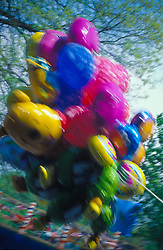 abstract design blur of colorful ballons at carnival