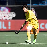 BREDA -  Qiong Wu (Chn)   tijdens Spanje-China bij de 4 Nations Trophy dames 2018 .  COPYRIGHT  KOEN SUYK