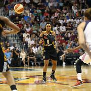 Odyssey Sims, Tulsa Shock, in action during the Connecticut Sun Vs Tulsa Shock WNBA regular season game at Mohegan Sun Arena, Uncasville, Connecticut, USA. 3rd July 2014. Photo Tim Clayton