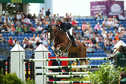 Maher Ben, (GBR), Diva II<br /> Team Competition round 1 and Individual Competition round 1<br /> FEI European Championships - Aachen 2015<br /> © Hippo Foto - Stefan Lafrentz<br /> 19/08/15
