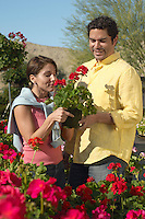 Couple Choosing Plants at a Nursery