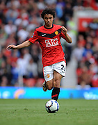 Fabio Da Silva of Manchester United in action during the Barclays Premier League match between Manchester United and Birmingham City at Old Trafford on August 16, 2009 in Manchester, England.