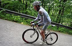 Winner Jure Golcer of Slovenia (LPR Brakes) during 3rd stage of the 15th Tour de Slovenie from Skofja Loka to Krvavec (129,5 km) , on June 13,2008, Slovenia. (Photo by Vid Ponikvar / Sportal Images)/ Sportida)