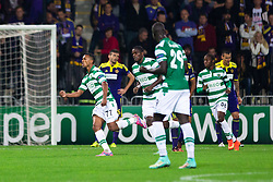Nani of Sporting celebrate after scoring a goal during football match between NK Maribor and Sporting Lisbon (POR) in Group G of Group Stage of UEFA Champions League 2014/15, on September 17, 2014 in Stadium Ljudski vrt, Maribor, Slovenia. Photo by Matic Klansek Velej  / Sportida.com