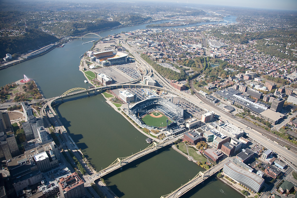 PNC Park to Heinz Field on Allegheny River front
