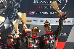 May 7, 2018 - Brands Hatch, Grande Bretagne - 17 BELGIAN AUDI CLUB TEAM WRT (BEL) AUDI R8 LMS STUART LEONARD (GBR) FREDERIC VERVISCH (BEl) WINNERS OF THE SECOND RACE (Credit Image: © Panoramic via ZUMA Press)