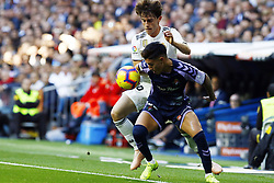 November 3, 2018 - Madrid, Madrid, Spain - Alvaro Odriozola (Real Madrid) and Leo Suarez (Real Valladolid) seen in action during the La Liga match between Real Madrid and Real Valladolid at Estadio Santiago Bernabéu..Final score Real Madrid 2-0 Valladolid. (Credit Image: © Manu Reino/SOPA Images via ZUMA Wire)