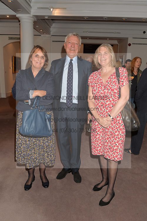 Left to right, JOANNA JENKINS, JONATHAN BOURNE and LADY ANNE CARR at a reception to celebrate the publication of Hockney - A Pilgrim's Progress by Christopher Simon Sykes held at Sotheby's, New Bond Street, London on 30th September 2014.