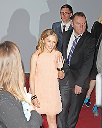 LONDON - June 04: Kylie Minogue leaving the Glamour Awards 2013 (Photo by Brett D. Cove) /LNP © Licensed to London News Pictures.