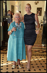 Tania Bryer (right) and her mother Joy. Joy is the President of the European Union Youth Orchestra, founded by her late husband attend the National Youth Orchestra of The United States of America Reception at the <br /> The Royal Albert Hall hosted be Ronald O.Perelman, London, United Kingdom,<br /> Sunday, 21st July 2013<br /> Picture by Andrew Parsons / i-Images