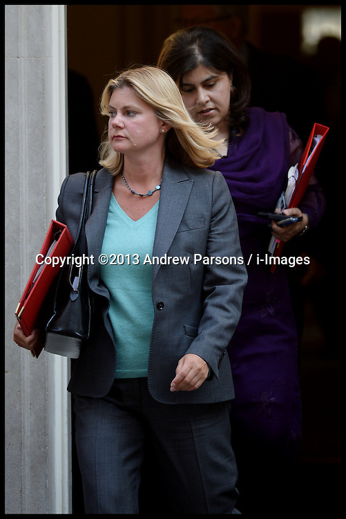 Justine Greening  leaves No10 Downing Street after Cabinet Meeting in the Syria Crisis, London, United Kingdom. Thursday, 29th August 2013. Picture by Andrew Parsons / i-Images