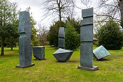 Sculpture Conversation with Magic Stones by Barbara Hepworth at Scottish National Gallery of Modern Art in Edinburgh, Scotland, United Kingdom