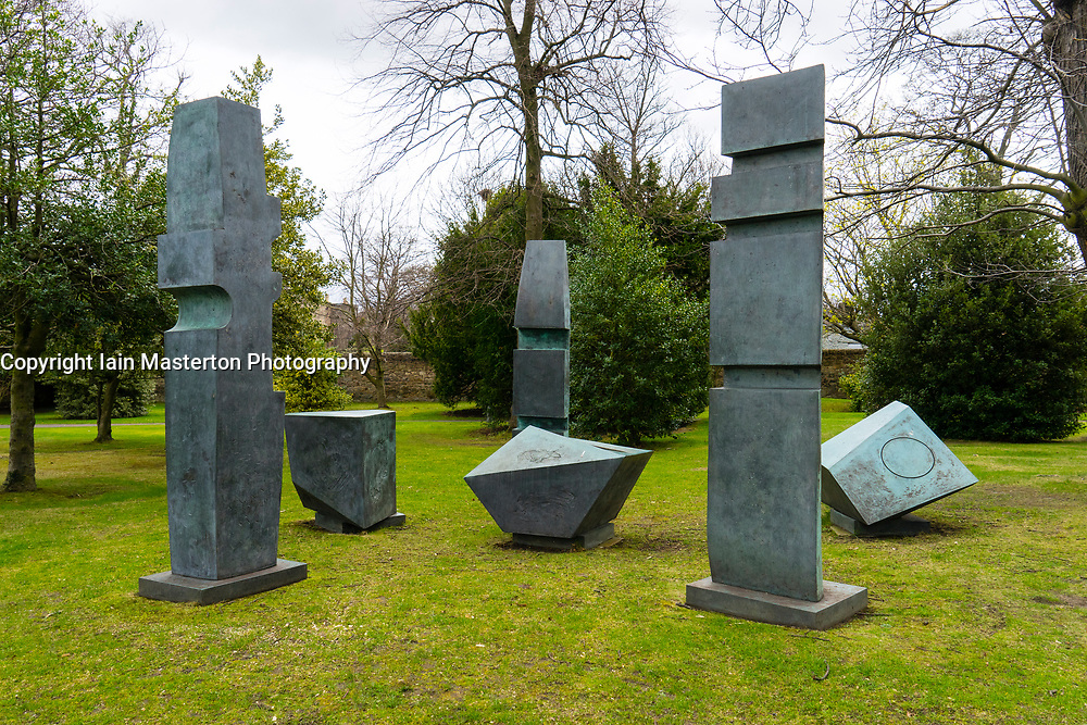 Sculpture Conversation with Magic Stones by Barbara Hepworth at Scottish National Gallery of Modern Art in Edinburgh, Scotland, United Kingdom