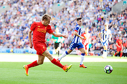 WIGAN, ENGLAND - Sunday, July 17, 2016: Liverpool's Lucas Leiva in action against Wigan Athletic during a pre-season friendly match at the DW Stadium. (Pic by David Rawcliffe/Propaganda)