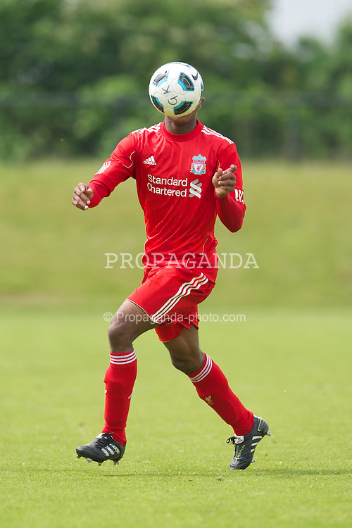 KIRKBY, ENGLAND - Friday, May 6, 2011: Liverpool's Toni Brito De Silva in action against Wolverhampton Wanderers during the FA Academy Under 18s League at the Kirkby Academy. (Photo by David Rawcliffe/Propaganda)