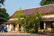 image of an elementary school on Sakkhaline Road,  Luang Prabang, Laos.