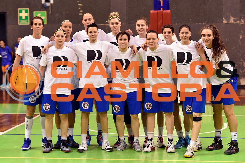 DESCRIZIONE : Pordenone Amichevole Pre Eurobasket 2015 Nazionale Italiana Femminile Senior Italia Australia Italy Australia<br /> GIOCATORE : team<br /> CATEGORIA : pregame<br /> SQUADRA : Italia Italy<br /> EVENTO : Amichevole Pre Eurobasket 2015 Nazionale Italiana Femminile Senior<br /> GARA : Italia Australia Italy Australia<br /> DATA : 28/05/2015<br /> SPORT : Pallacanestro<br /> AUTORE : Agenzia Ciamillo-Castoria/GiulioCiamillo<br /> Galleria : Nazionale Italiana Femminile Senior<br /> Fotonotizia : Pordenone Amichevole Pre Eurobasket 2015 Nazionale Italiana Femminile Senior Italia Australia Italy Australia<br /> Predefinita :