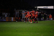 Crawley Town's scores their second goal after a corner kick from Jordan Roberts during the EFL Sky Bet League 2 match between Crawley Town and Grimsby Town FC at the Checkatrade.com Stadium, Crawley, England on 26 November 2016. Photo by Jarrod Moore.