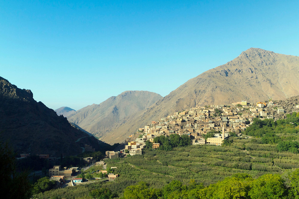 Armed (Aroumd / Aremd / Around / Arempt) Village - the highest village in the Mizane Valley located at the base of Mnt Toubkal, High Atlas Mountains, Morocco