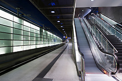 Platforms at Potsdamer Platz railway station in Berlin 2009