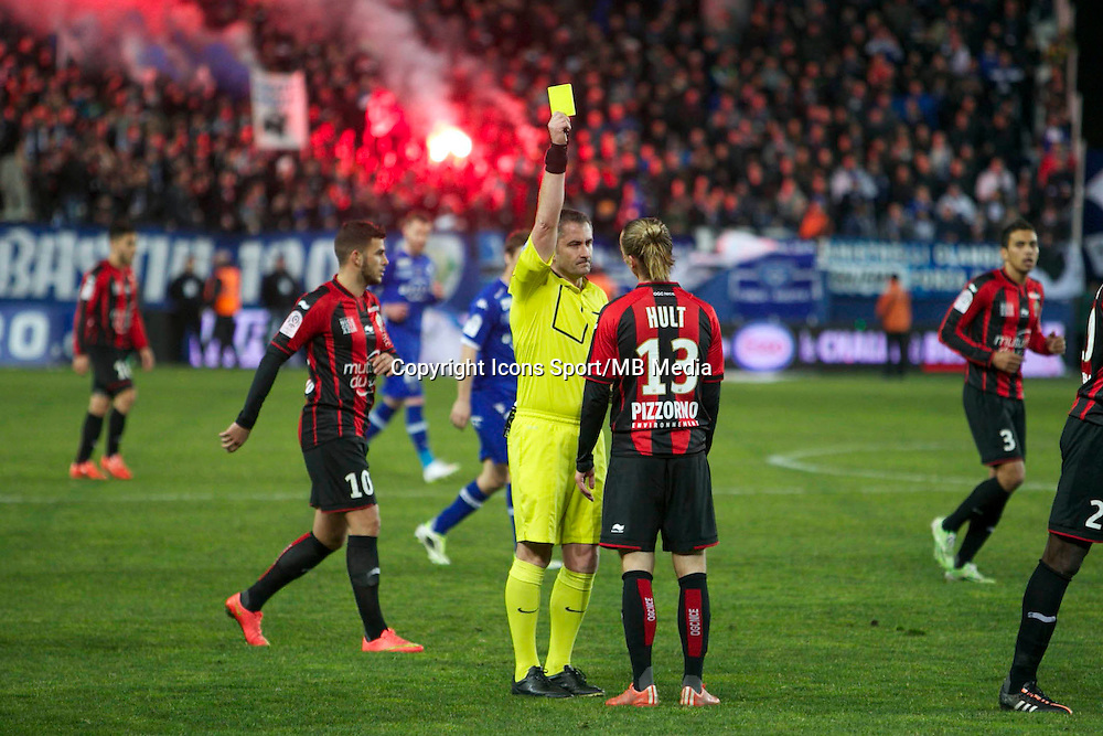 Niklas HULT  / Fredy FAUTREL - 07.03.2015 -  Bastia / Nice -  28eme journee de Ligue 1 <br />Photo : Michel Maestracci / Icon Sport