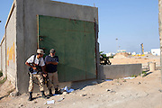22 august 2011. Rebels in the frontline near Bab Al Azizia , the main Gheddafi stronghold, in the Gorji area the day after the rebels enter in the city.