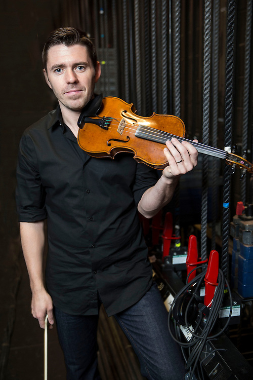 Colin Farrel fiddle violin Lunasa Broad Theater Los Angeles California