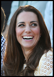 The  Duchess of Cambridge reacts as she watches  a bird display at Taronga Zoo in Sydney, Australia, Sunday, 20th April 2014. Picture by Stephen Lock / i-Images