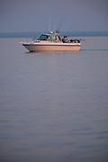 Charter fishing on Lake Michigan near Sturgeon Bay, in Door County Wisconsin. (Mike Roemer Photography)