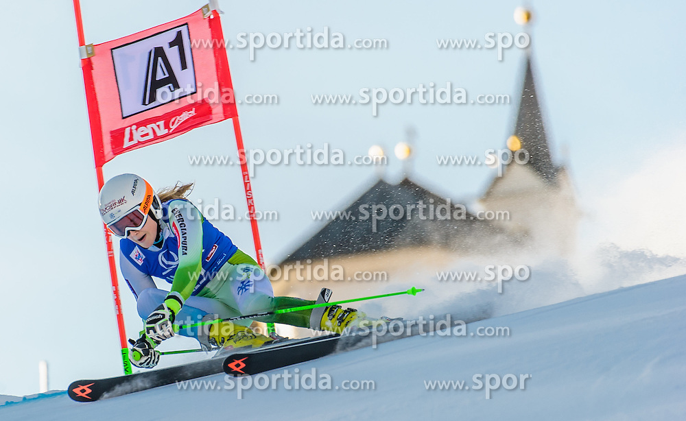 28.12.2015, Hochstein, Lienz, AUT, FIS Ski Weltcup, Lienz, Riesenslalom, Damen, 1. Durchgang, im Bild Ana Drev (SLO) // Ana Drev of Slovenia during 1st run of ladies Giant Slalom of the Lienz FIS Ski Alpine World Cup at the Hochstein in Lienz, Austria on 2015/12/28. EXPA Pictures © 2015, PhotoCredit: EXPA/ Michael Gruber