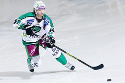 Andrej Hebar (HDD Tilia Olimpija, #84) during ice-hockey match between HDD Tilia Olimpija and EHC Liwest Black Wings Linz in 19th Round of EBEL league, on November 7, 2010 at Hala Tivoli, Ljubljana, Slovenia. (Photo By Matic Klansek Velej / Sportida.com)