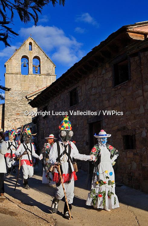 Mascaritas and Botargas. Carnival, Almiruete. Tamajon, Guadalajara province, Castilla-La Mancha, Spain