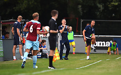 Bristol Rovers development coach Chris Hargreaves shouts instructions from the touch-line - Mandatory by-line: Paul Knight/JMP - 18/07/2017 - FOOTBALL - Viridor Stadium - Taunton, England - Taunton Town v Bristol Rovers XI - Pre-season friendly