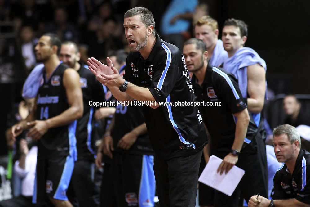 Breakers' Head Coach Andrej Lemanis. iinet ANBL, Semi-Final Game 3, New Zealand Breakers vs Perth Wildcats, North Shore Events Centre, Auckland, New Zealand. Wednesday 13th April 2011. Photo: Anthony Au-Yeung / photosport.co.nz
