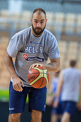 Vassilis Spanoulis of Greece at practice session of team Greece 1 day before the beginning of Eurobasket 2013 on September 3, 2013 in Arena Bonifika, Koper, Slovenia. (Photo by Matic Klansek Velej / Sportida.com)