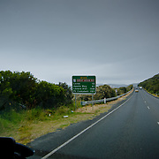 The Great Ocean Road with stormy weather.