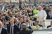 April 26, 2017: Pope Francis greets the crowd as he arrives for a weekly general audience at St Peter's square. Antoine Mekary | Aleteia | I.Media