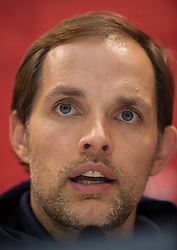 03.11.2013, SGL Arena, Augsburg, GER, 1. FBL, FC Augsburg vs 1. FSV Mainz 05, 11. Runde, im Bild Thomas Tuchel (Trainer FSV Mainz 05), Pressekonferenz, Portrait, Portrv&szlig;t, Portraet, Hochformat, hoch, vertikal, // during the German Bundesliga 11th round match between FC Augsburg and 1. FSV Mainz 05 at the SGL Arena in Augsburg, Germany on 2013/11/03. EXPA Pictures &copy; 2013, PhotoCredit: EXPA/ Eibner-Pressefoto/ Krieger<br /> <br /> *****ATTENTION - OUT of GER*****