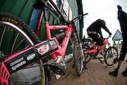 UCI World Cup Downhill mountain bike racing at Fort William, Scotland, UK. June 2009