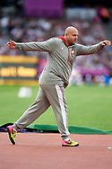 Great Britain, London - 2017 August 04: Piotr Malachowski (Slask Wroclaw) of Poland competes in men's discus throw qualification during IAAF World Championships London 2017 at  London Stadium on August 04, 2017 in London, Great Britain.<br /> <br /> Mandatory credit:<br /> Photo by © Adam Nurkiewicz<br /> <br /> Adam Nurkiewicz declares that he has no rights to the image of people at the photographs of his authorship.<br /> <br /> Picture also available in RAW (NEF) or TIFF format on special request.<br /> <br /> Any editorial, commercial or promotional use requires written permission from the author of image.