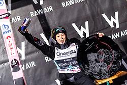 17.03.2019, Vikersundbakken, Vikersund, NOR, FIS Weltcup Skisprung, Raw Air, Vikersund, Siegerehrung, Raw Air Gesamtwertung, Herren, im Bild Gesamtsieger Ryoyu Kobayashi (JPN) // Ryoyu Kobayashi of Japan during the men's allover winner Ceremony for the 4th Stage of the Raw Air Series of FIS Ski Jumping World Cup at the Vikersundbakken in Vikersund, Norway on 2019/03/17. EXPA Pictures © 2019, PhotoCredit: EXPA/ JFK