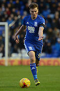 Birmingham City midfielder Stephen Gleeson (8) on the attack 0-0 during the EFL Sky Bet Championship match between Birmingham City and Nottingham Forest at St Andrews, Birmingham, England on 14 January 2017. Photo by Alan Franklin.