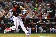 PHOENIX, AZ - MAY 14:  Chris Owings #16 of the Arizona Diamondbacks doubles to drive in a run during the second inning against the San Francisco Giants at Chase Field on May 14, 2016 in Phoenix, Arizona.  (Photo by Jennifer Stewart/Getty Images)