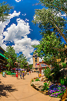 Snowmass Mall, Snowmass Village (Aspen), Colorado USA.