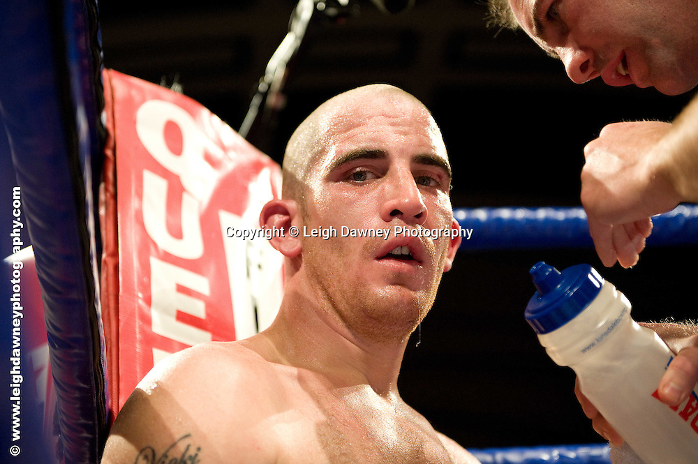 Vinny Mitchell defeats Johnny Greaves at York Hall, Bethnal Green 9th ocotber 2009. Frank Warren Promotions.Credit: ©Leigh Dawney Photography