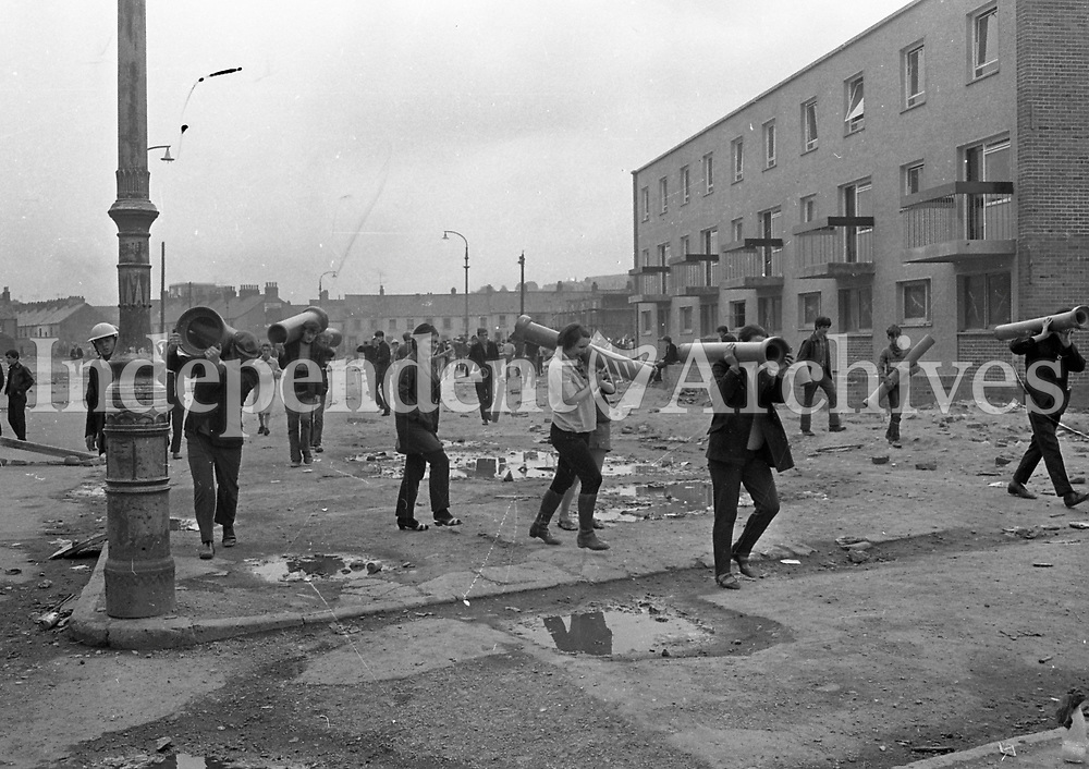 Northern Ireland riots. August 1969.<br /> (Part of the Independent Newspapers Ireland/NLI Collection)