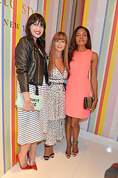Left to right, DAISY LOWE, DEBORAH LLOYD and NAOMIE HARRIS at the opening party of the new Kate Spade New York store at 182 Regent Street, London on 21st April 2016.